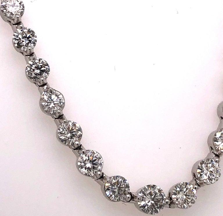 Emilio Jewelry Signature 10.35 Carat Graduating Diamond Riviera Necklace For Sale 1