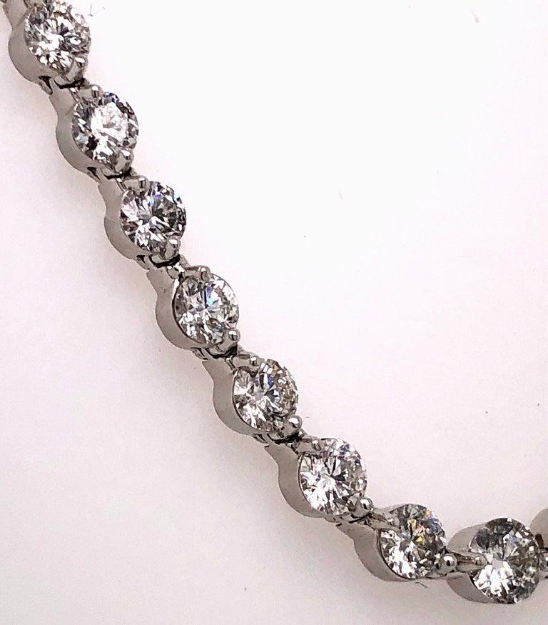 Emilio Jewelry Signature 10.35 Carat Graduating Diamond Riviera Necklace For Sale 2