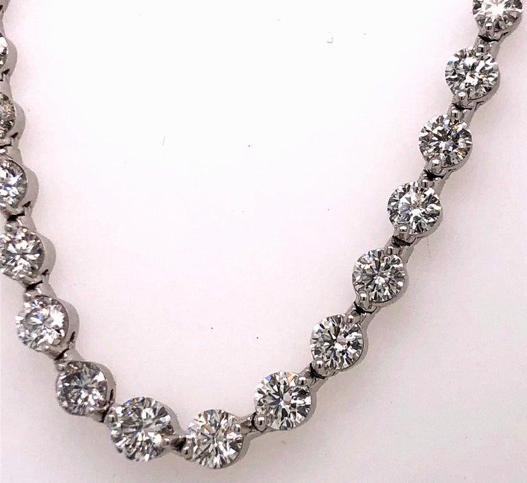 Emilio Jewelry Signature 10.35 Carat Graduating Diamond Riviera Necklace For Sale 3