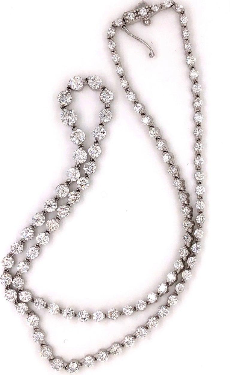Emilio Jewelry Signature 10.35 Carat Graduating Diamond Riviera Necklace For Sale 4