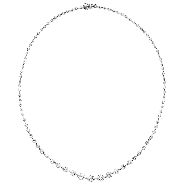 Emilio Jewelry Signature 10.35 Carat Graduating Diamond Riviera Necklace
