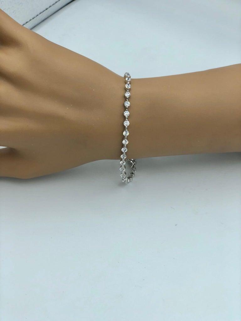Emilio Jewelry Trademark Floating Diamond Bracelet 10