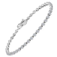 Emilio Jewelry Trademark Floating Diamond Bracelet .10 Carat Each Stone