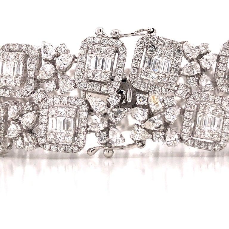 Emilio Jewelry Wide Diamond Bracelet For Sale 1
