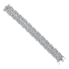 Emilio Jewelry Wide Diamond Bracelet