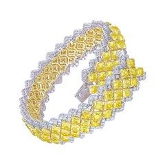 Emilio Jewelry Yellow Diamond Bracelet