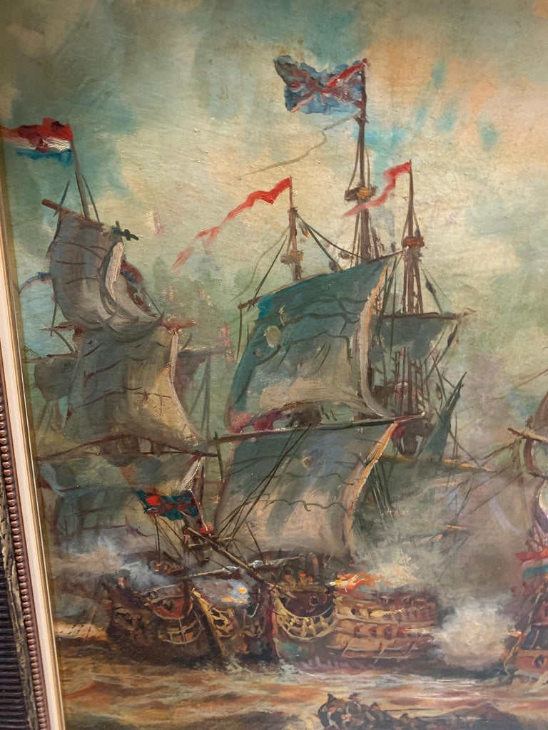 Siege and Storm - Painting by Emilio Payes