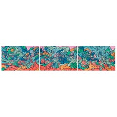 Emilio Perez Triptych of Three Lithographs, 2017