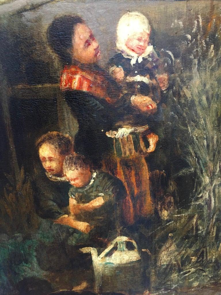 COUNTRY LANDSCAPE - Italian oil on canvas painting, Emilio Pergola For Sale 6