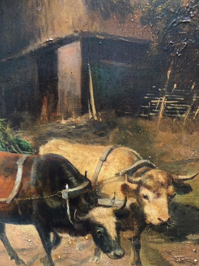 COUNTRY LANDSCAPE - Italian oil on canvas painting, Emilio Pergola For Sale 2