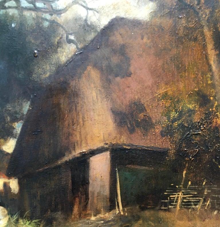 COUNTRY LANDSCAPE - Italian oil on canvas painting, Emilio Pergola For Sale 3
