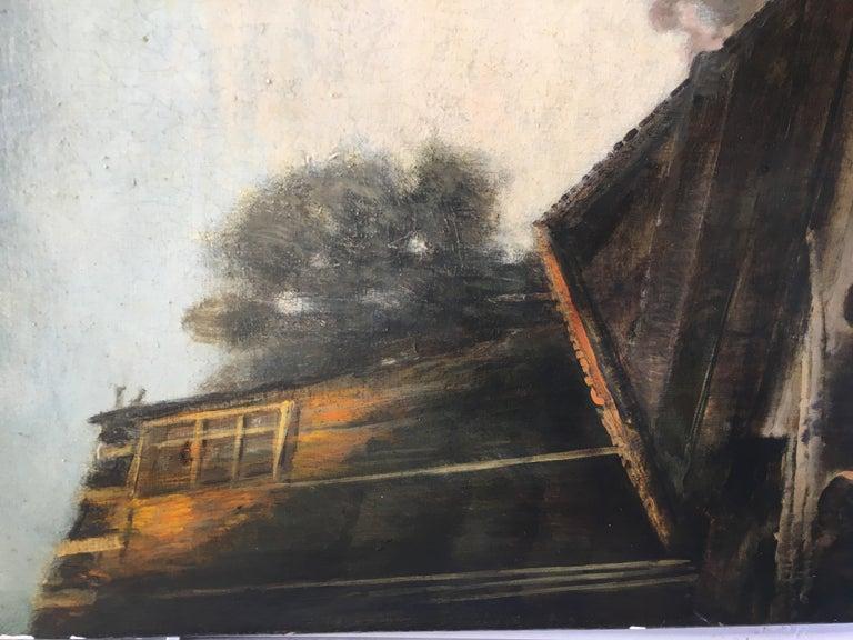 COUNTRY LANDSCAPE - Italian oil on canvas painting, Emilio Pergola For Sale 4