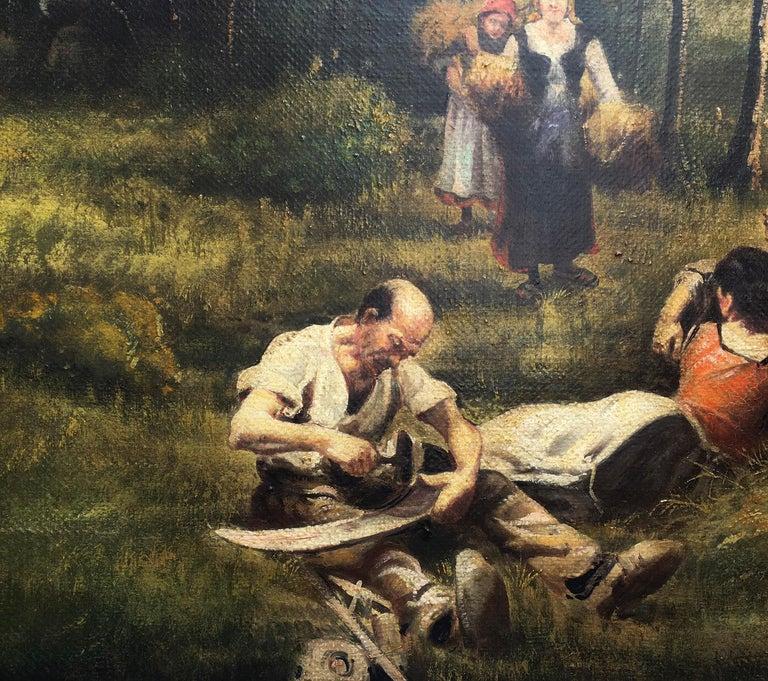 Country Scene - Emilio Pergola Italian Oil on Canvas Painting For Sale 2