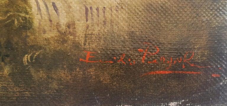 Country Scene - Emilio Pergola Italian Oil on Canvas Painting For Sale 5