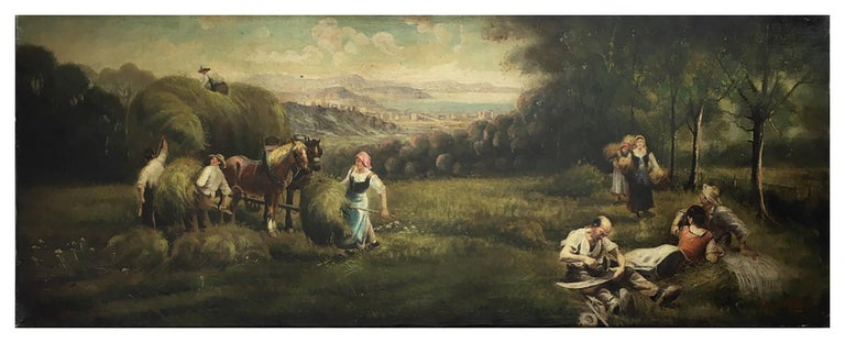 Country Scene - Emilio Pergola Italia 2006 - Oil on canvas cm.50x130 Frame available on request from our workshop.