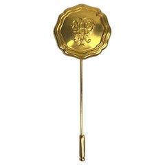 Emilio Pucci 1980s Monogram Medallion Stick Pin