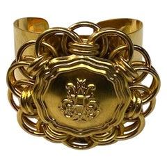 Emilio Pucci 1980s Wide Medallion Cuff Bracelet