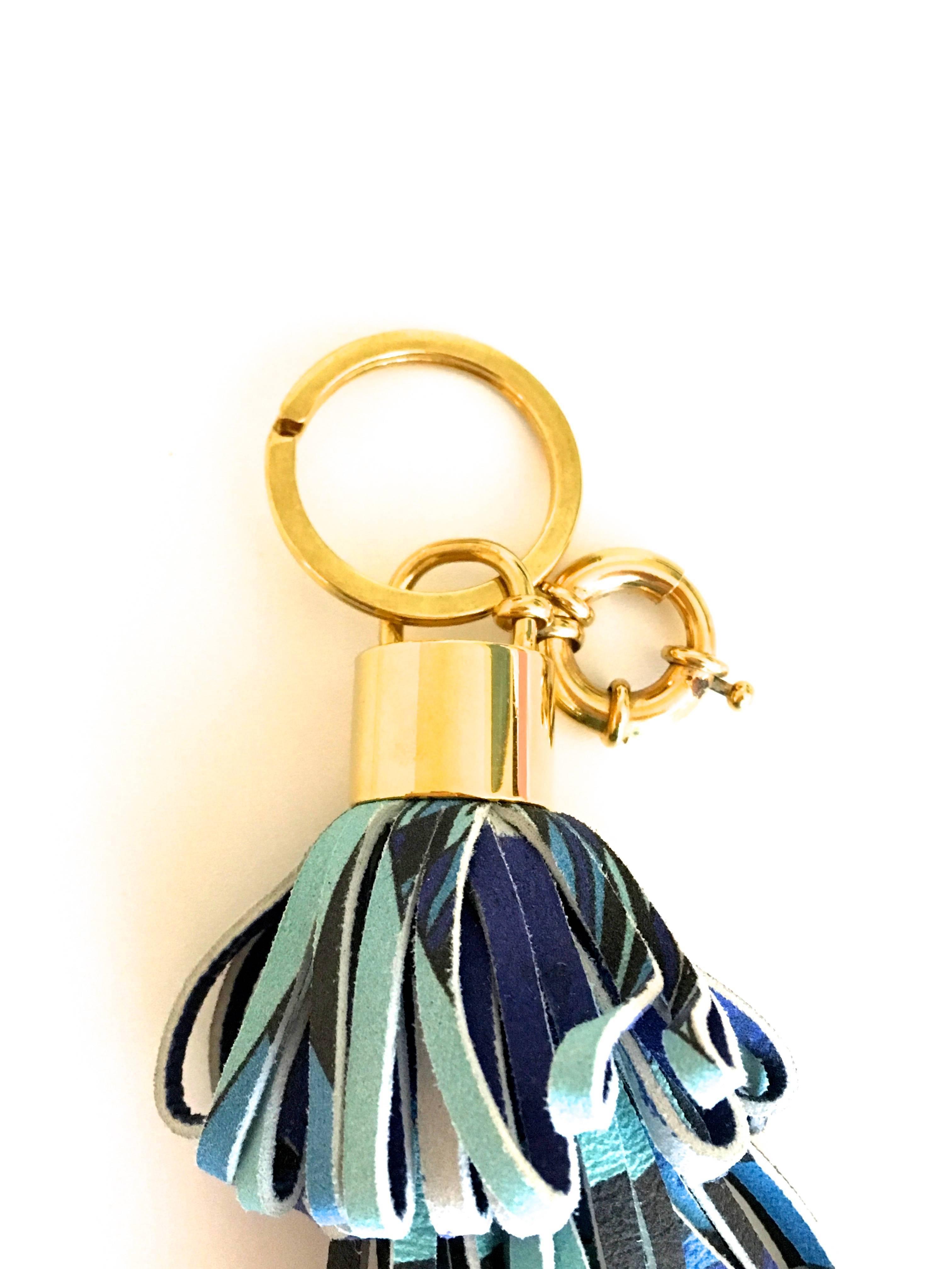 Emilio Pucci Bag Charm / Keychain - Rare wZXxRL