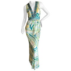 Emilio Pucci Bead Embellished Maxi Dress
