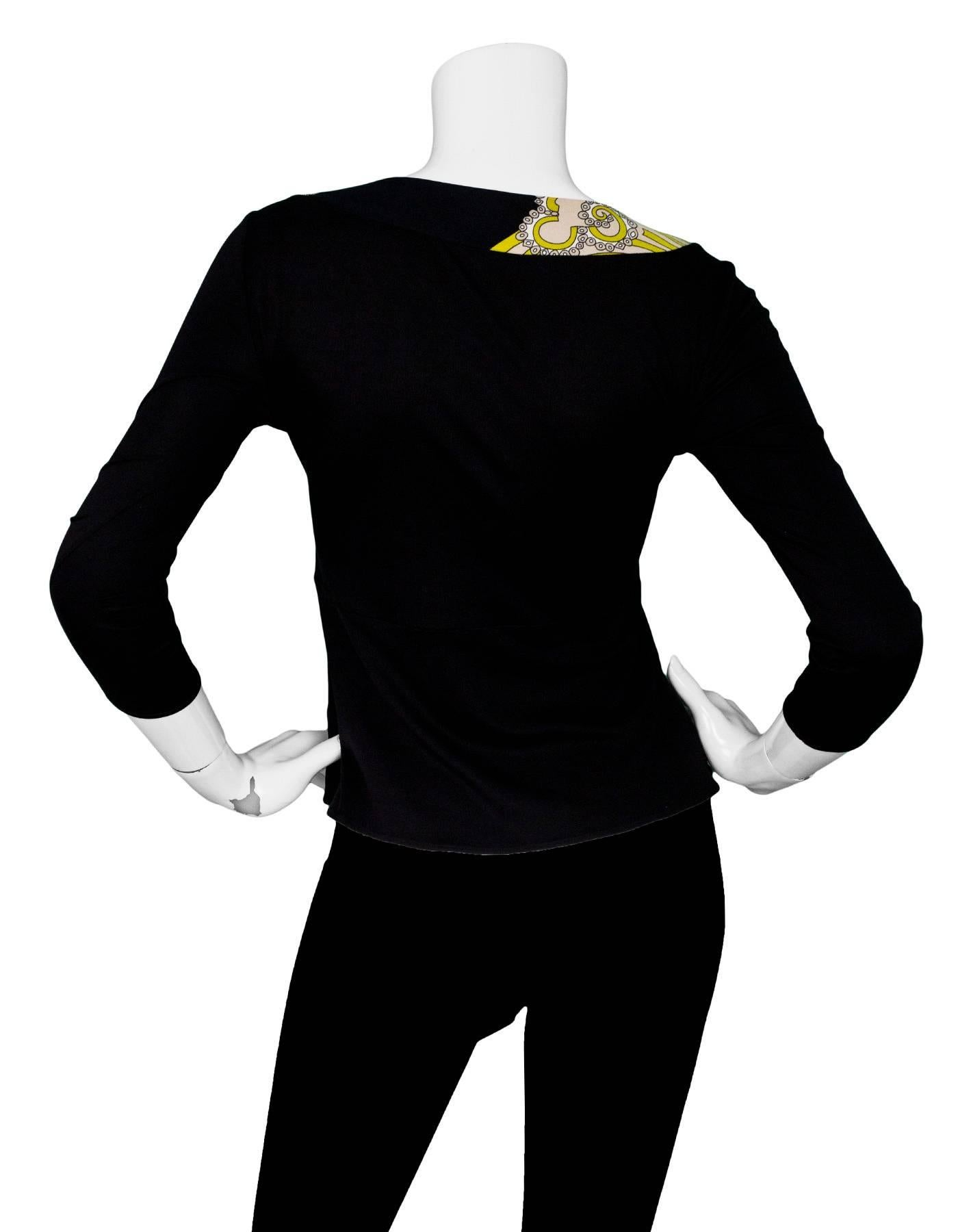 emilio pucci black silk top with keyhole sz 6 for sale at 1stdibs 1970s Bell Bottom Plus Sizes
