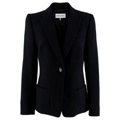 Emilio Pucci Black Wool Single-Breasted Blazer - Size US 8