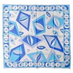 Emilio Pucci Blue Diamond Printed Scarf