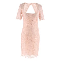 Emilio Pucci Blush Open-back lace dress - Size US 00