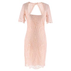 Emilio Pucci Blush Open-back lace dress - Size US 0