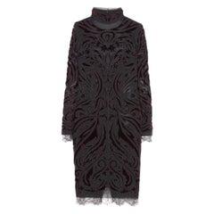 Emilio Pucci Bordeaux Velvet-Embroidered Dress