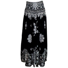 Emilio Pucci by Peter Dundas Signature Embroidered Maxi Skirt