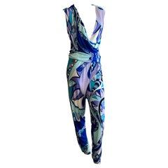 Emilio Pucci Colorful Low Cut Jumpsuit