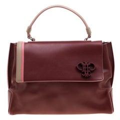 Emilio Pucci Colourblock Leather Flap Tote