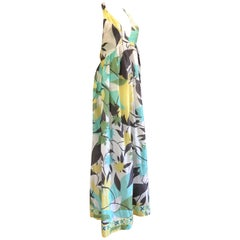 Emilio Pucci Cotton & Silk Halter Style Dress or Beach Cover Up
