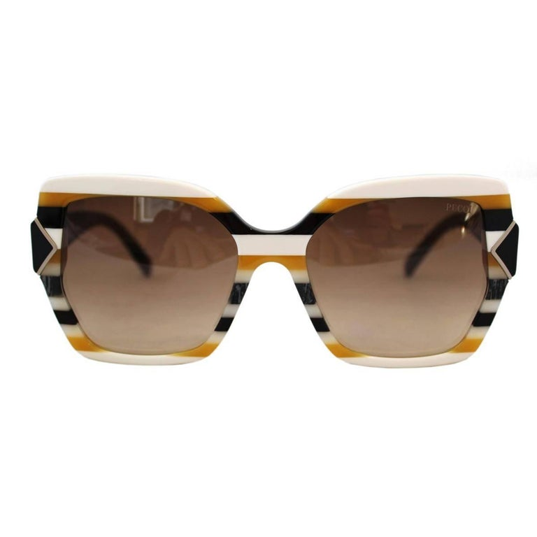 Emilio Pucci Striped Sunglasses