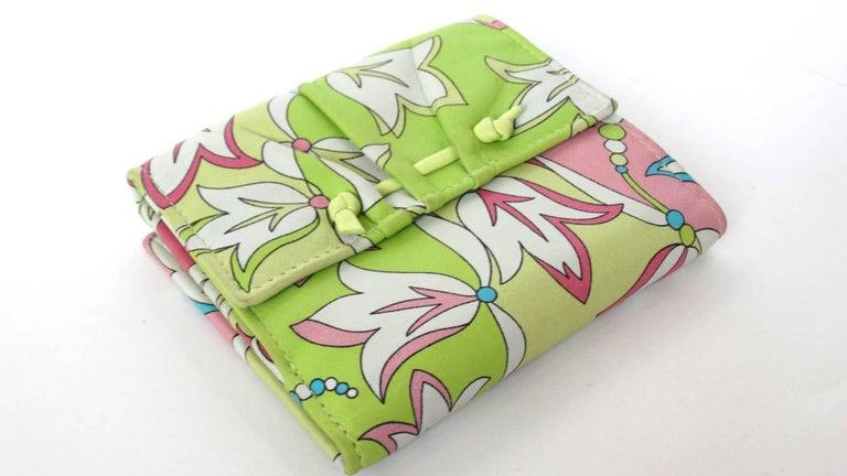 Emilio Pucci Floral Print Leather Wallet For Sale 6