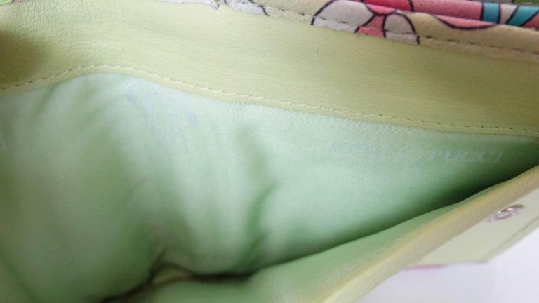 Emilio Pucci Floral Print Leather Wallet For Sale 1