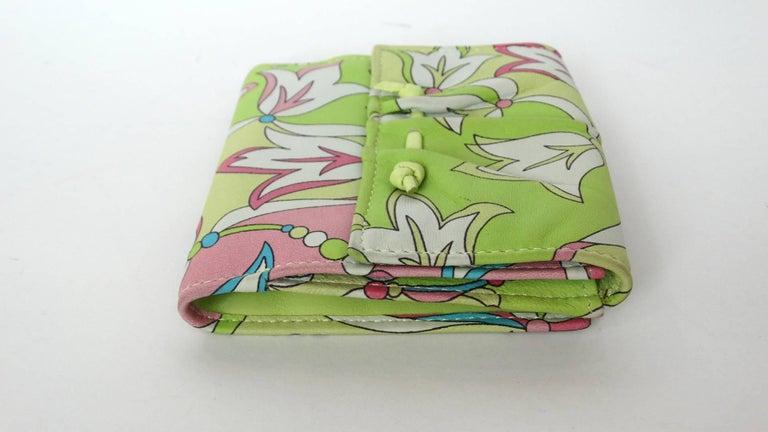 Emilio Pucci Floral Print Leather Wallet For Sale 2