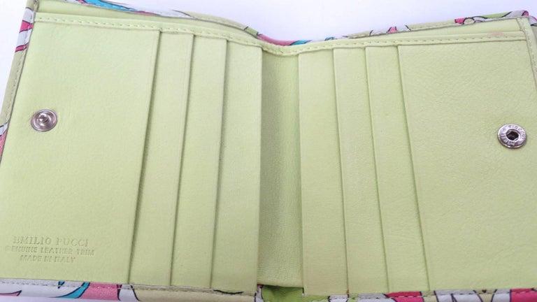 Emilio Pucci Floral Print Leather Wallet For Sale 3