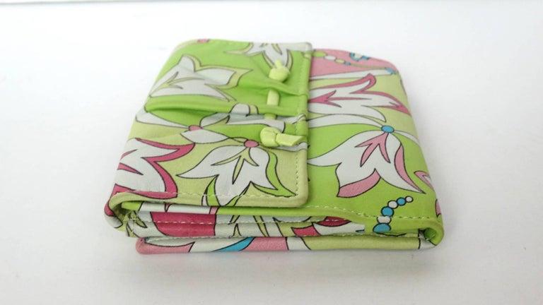 Emilio Pucci Floral Print Leather Wallet For Sale 4