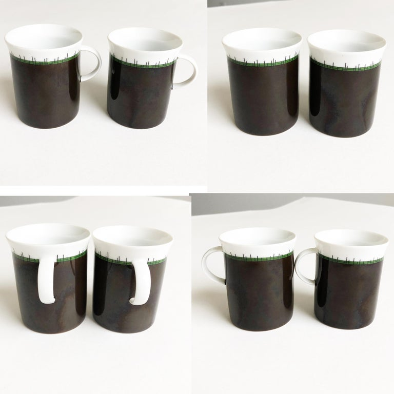 Emilio Pucci for Rosenthal 13pc Espresso Coffee Service Porcelain China 60s Rare For Sale 3