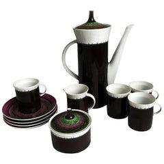 Emilio Pucci for Rosenthal 13pc Espresso Coffee Service Porcelain China 60s Rare