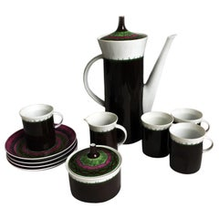 Emilio Pucci for Rosenthal 13pc Espresso Coffee Service Porcelain China 60s Rare