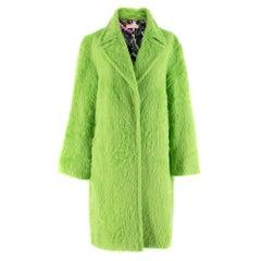 Emilio Pucci Green Alpaca and Wool Blend Coat IT 40