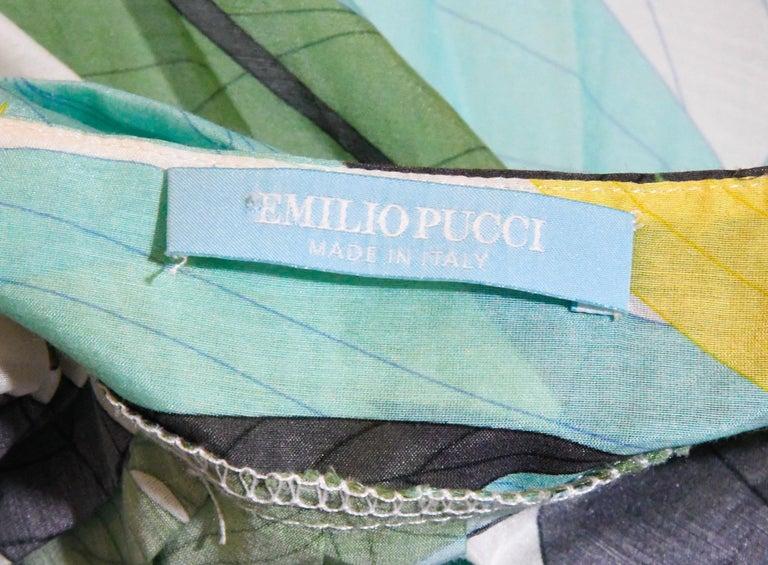 Emilio Pucci Halter V Neck Floral Print Backless Long Dress  For Sale 1