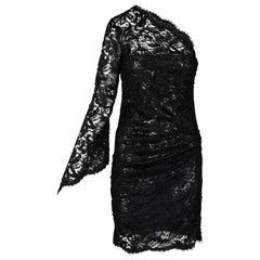 Emilio Pucci Lace-Embellished One-Shoulder Dress