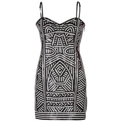 Emilio Pucci Leather-Panelled Stretch-Mesh Mini Dress