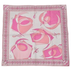Emilio Pucci Light Pink Abstract Scarf
