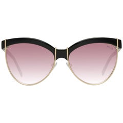Emilio Pucci Mint Women Black Sunglasses EP0057 5701T 57-16-141 mm
