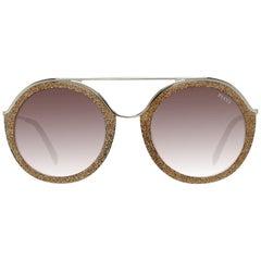 Emilio Pucci Mint Women Gold Sunglasses EP0013 5247F 52-22-140 mm