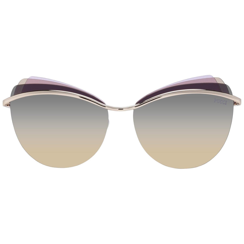 Emilio Pucci Mint Women Gold Sunglasses EP0112 5928B 59-14-140 mm